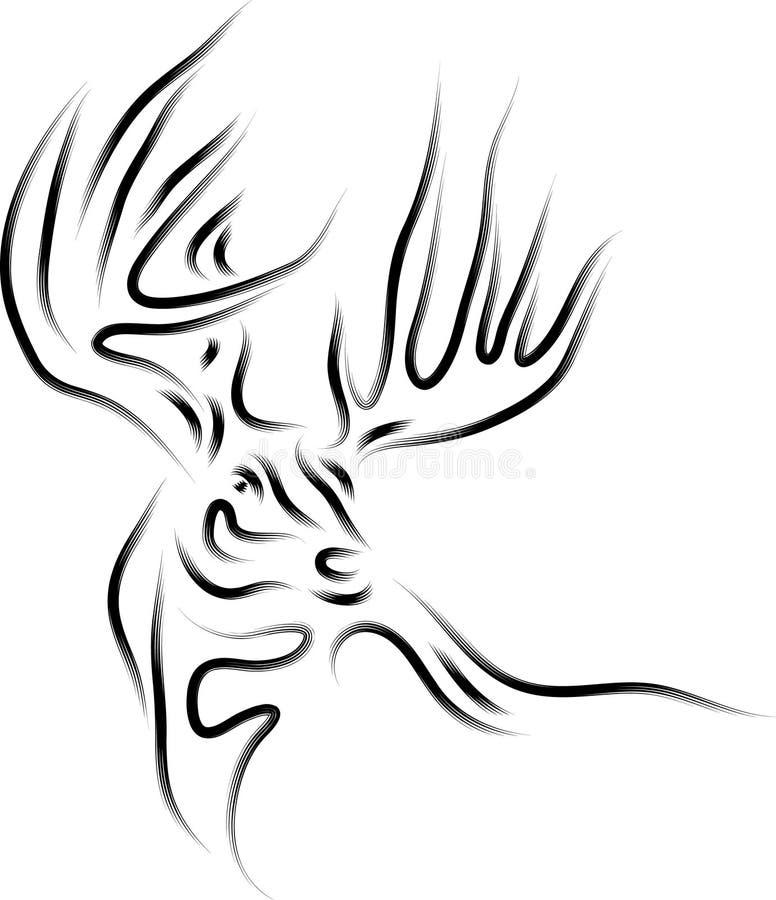 鹿摘要 库存例证
