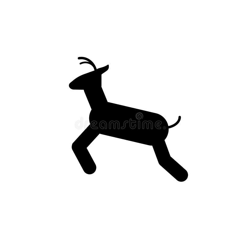 鹿标志在白色背景隔绝的象传染媒介,鹿标志标志 皇族释放例证