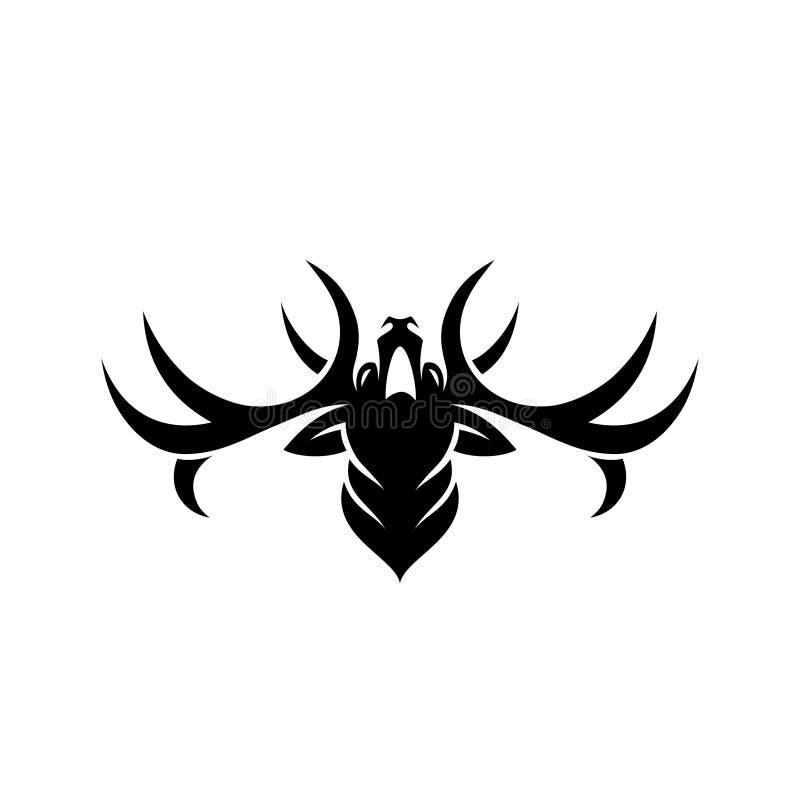 鹿标志-传染媒介例证 库存例证