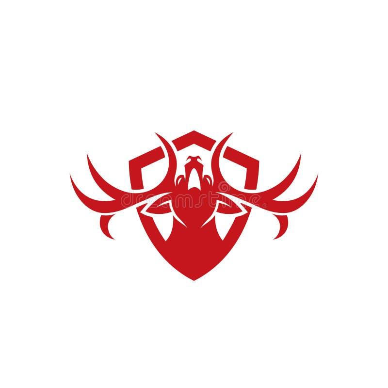 鹿标志-徽章-导航例证 皇族释放例证