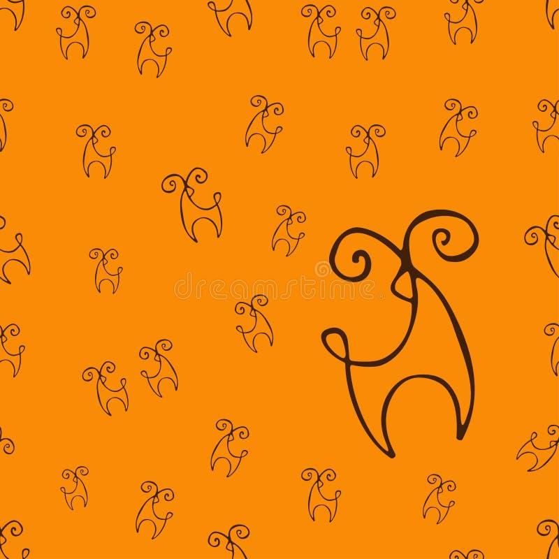 鹿样式 库存照片