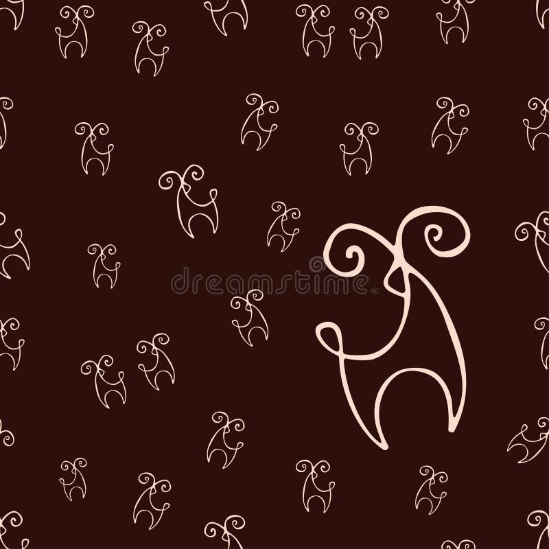 鹿样式 免版税库存照片