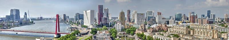 鹿特丹地平线全景 免版税库存图片