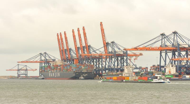 鹿特丹港口 免版税库存照片