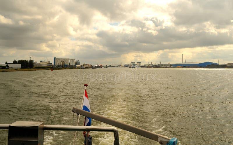鹿特丹港口 库存图片