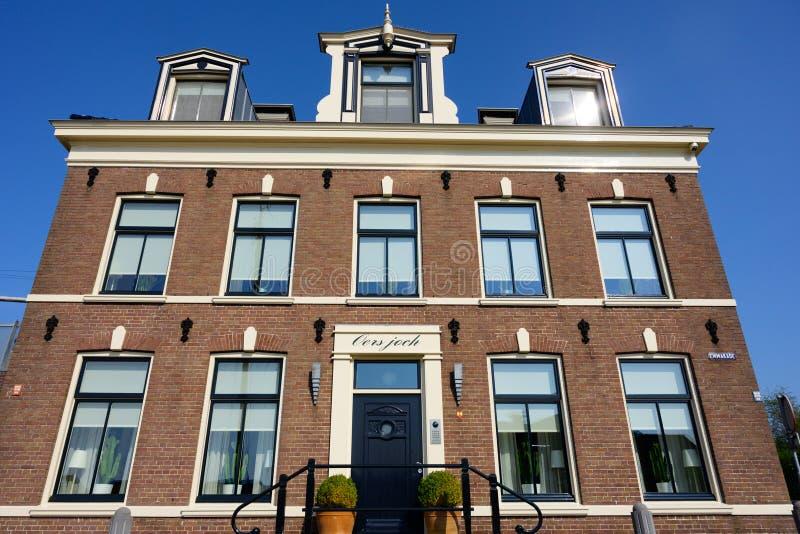 鹿特丹荷兰,欧洲的历史建筑和建筑学旅行 库存照片