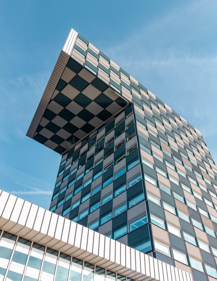 鹿特丹,荷兰- 2018年10月:现代大学建筑设计 海事大学 免版税图库摄影