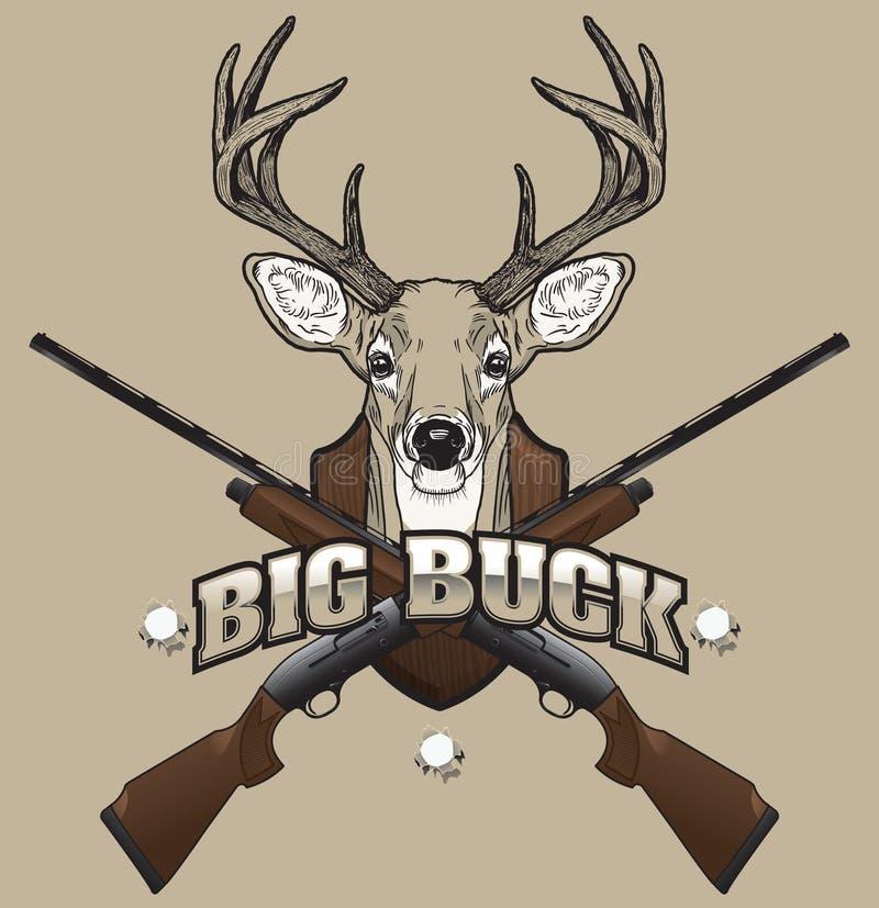 鹿狩猎例证 向量例证