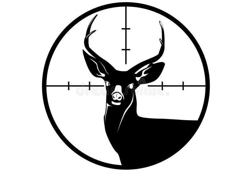 鹿狩猎狩猎商标 向量例证