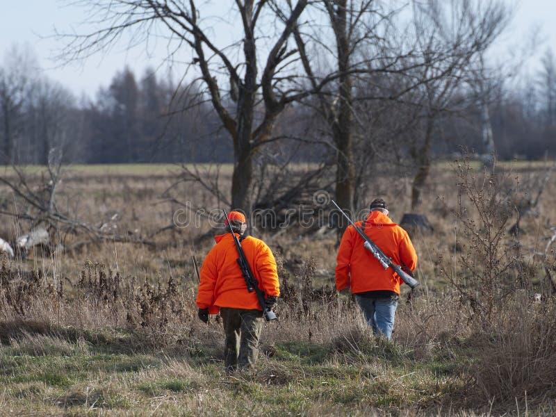 鹿猎人 免版税库存图片