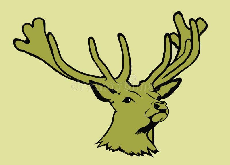 鹿纵向 皇族释放例证
