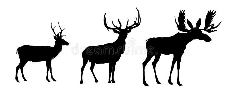 鹿集合传染媒介图象 向量例证