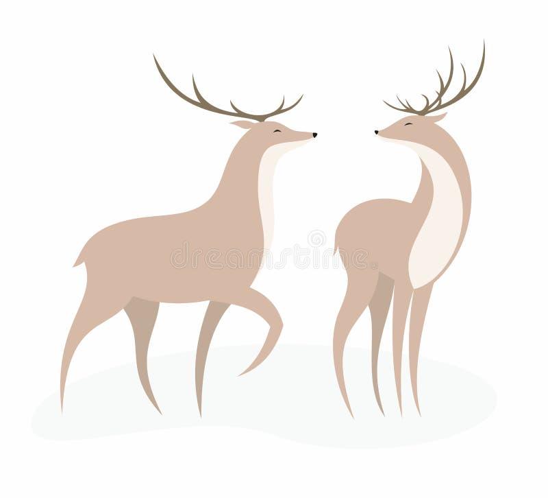 鹿集合 向量例证
