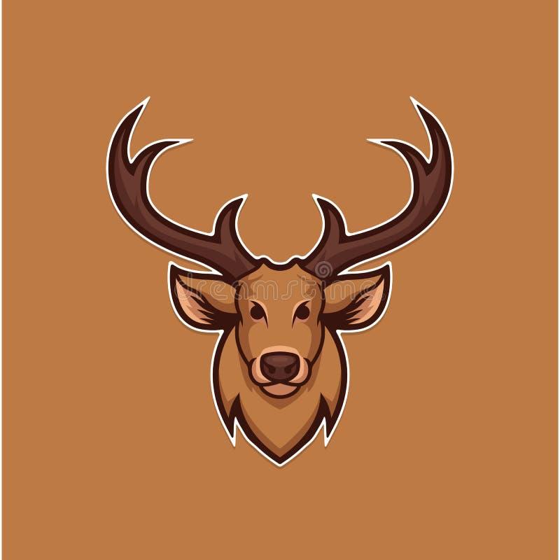 鹿顶头传染媒介例证 图库摄影
