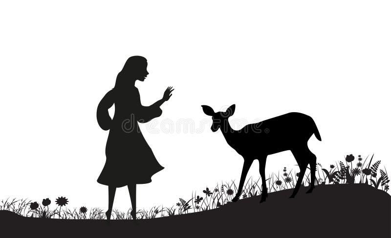 鹿领域 向量例证