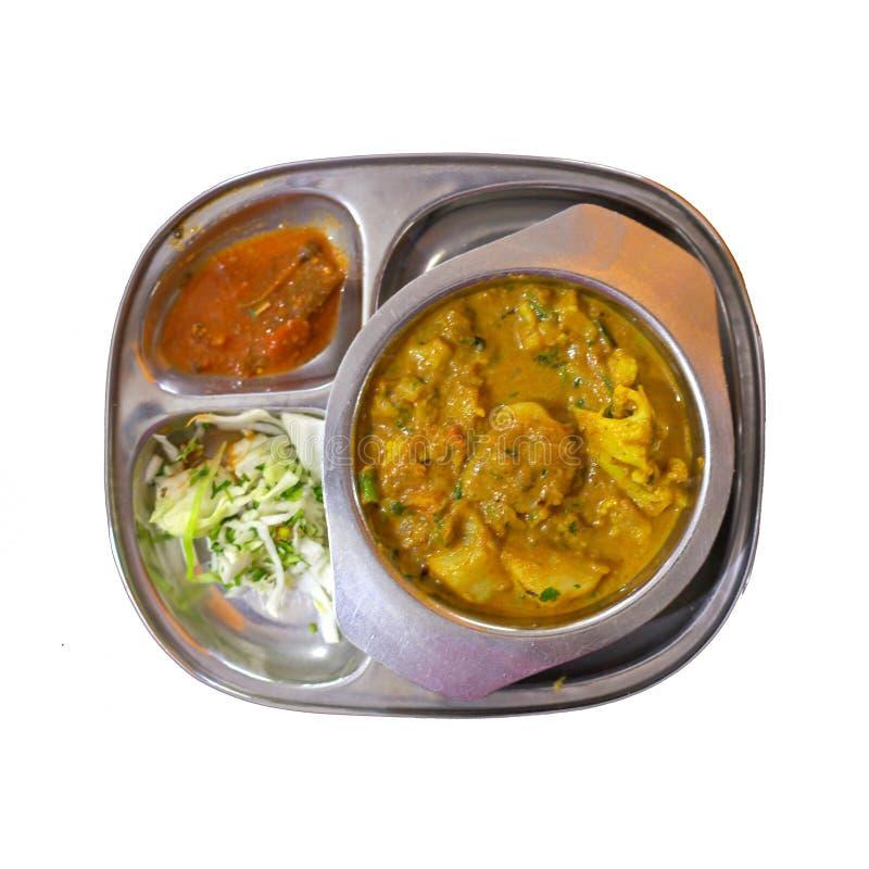 水鹿,扁豆盘 印地安食物, 库存图片