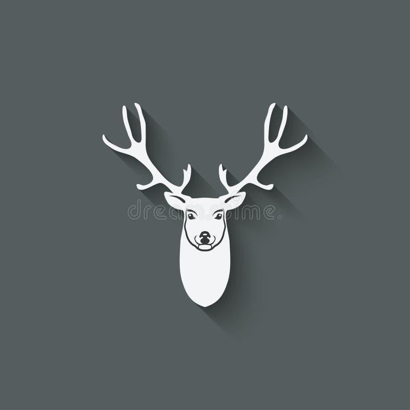 鹿头设计元素 皇族释放例证