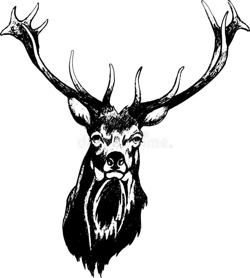 鹿头 皇族释放例证