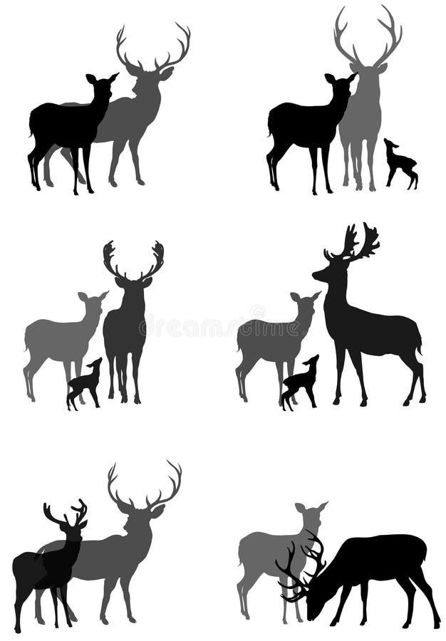 鹿 向量例证