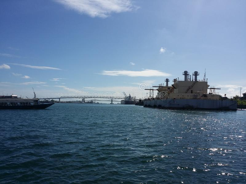 麦克坦岛宿务桥梁 库存照片