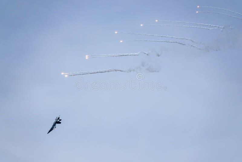 麦克当诺道格拉斯公司F-18大黄蜂,多角色作战喷气式歼击机 免版税图库摄影