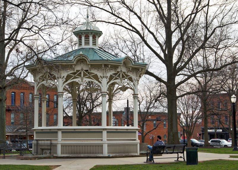 麦地那、OH住宅区的公园&眺望台 免版税库存图片