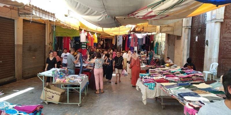 麦地那街 摩洛哥,乌伊达 免版税库存图片
