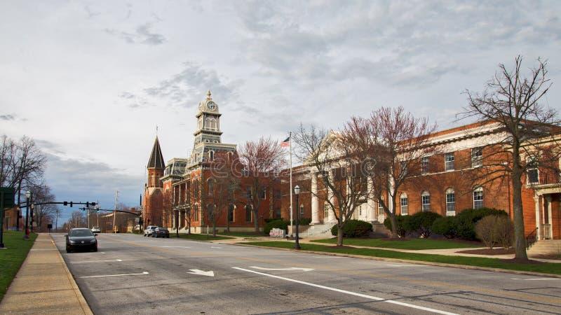 麦地那,俄亥俄法院 免版税图库摄影