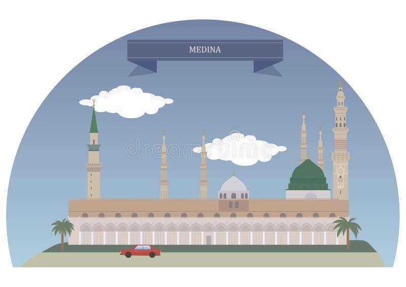 麦地那,沙特阿拉伯 向量例证