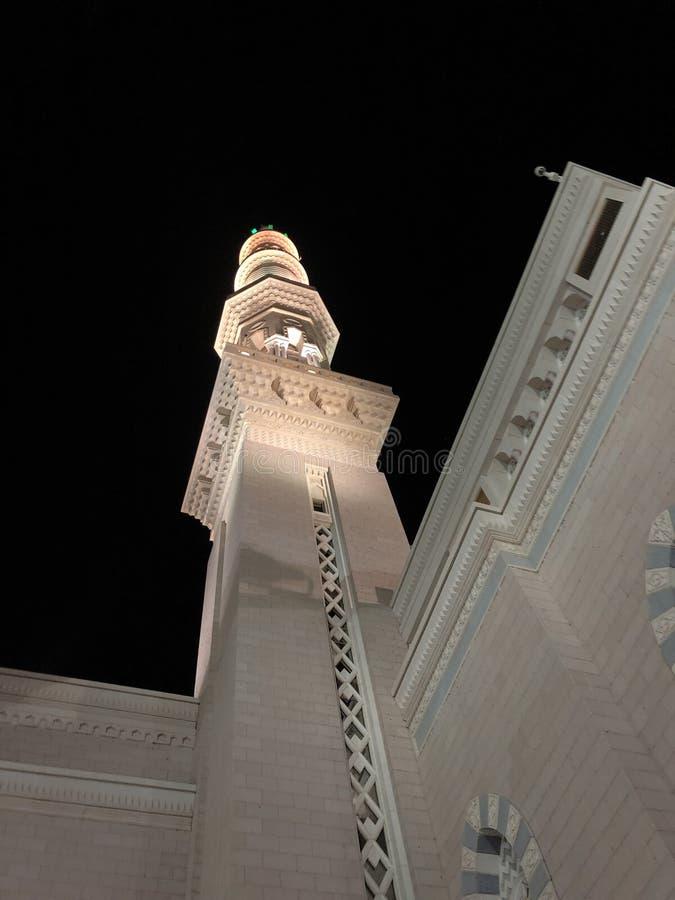 麦地那,Madinah 沙地阿拉伯航空阿拉伯半岛 先知穆罕默德清真寺 AlMasjid An-Nabavi 伟大的伊斯兰教的清真寺 在04拍的照片 28 2019? 免版税库存图片