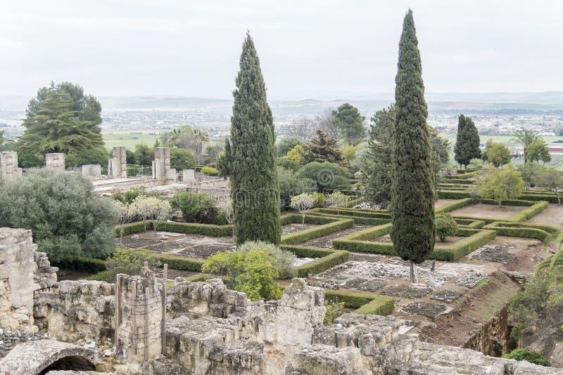 麦地那Azahara,科多巴,西班牙古城废墟  免版税图库摄影