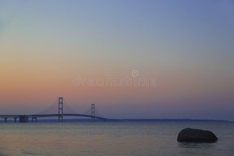 麦基诺桥 免版税库存照片