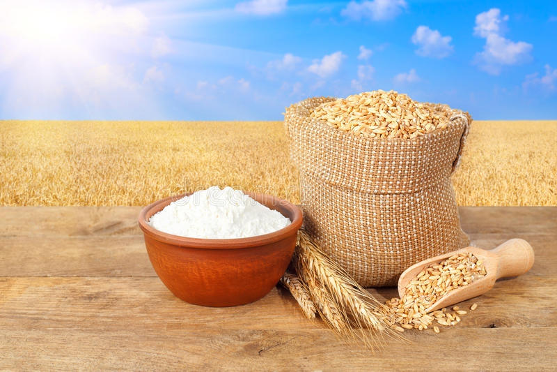 背景麦子和五谷在外带酒店v背景声明食品加工自然面粉图片