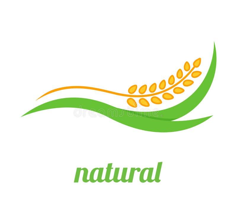 麦子商标模板 库存例证
