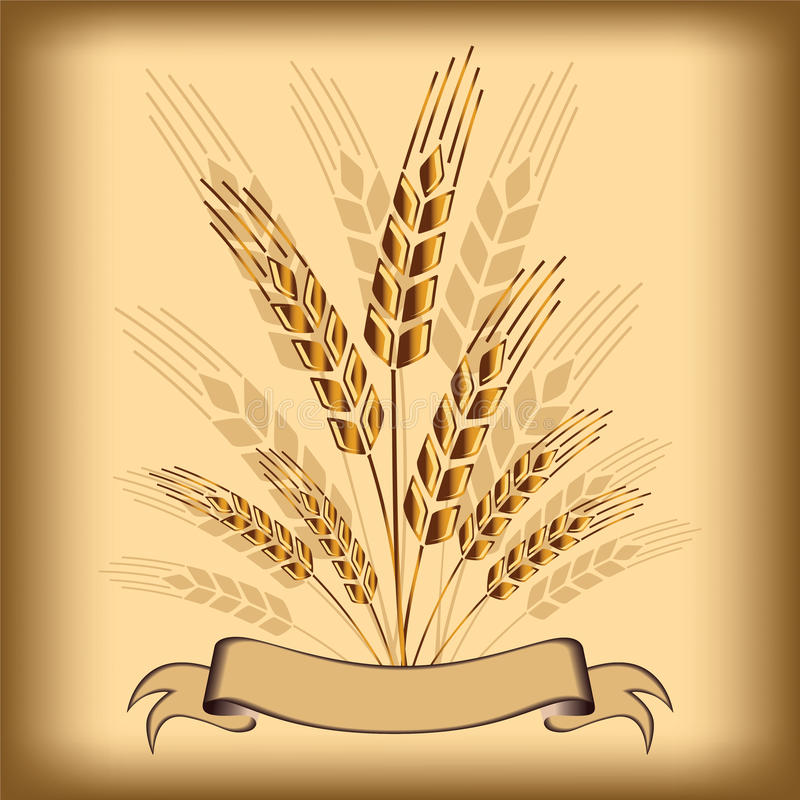 麦子图标 向量例证