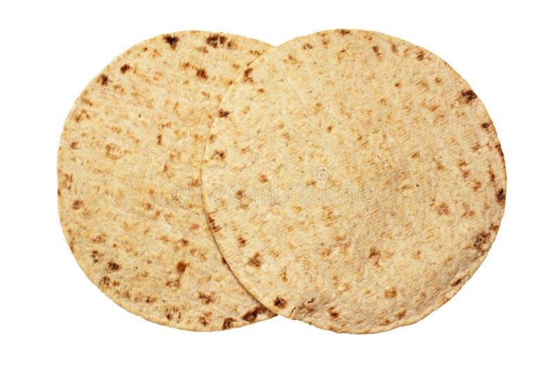 麦子圆的玉米粉薄烙饼 免版税库存图片