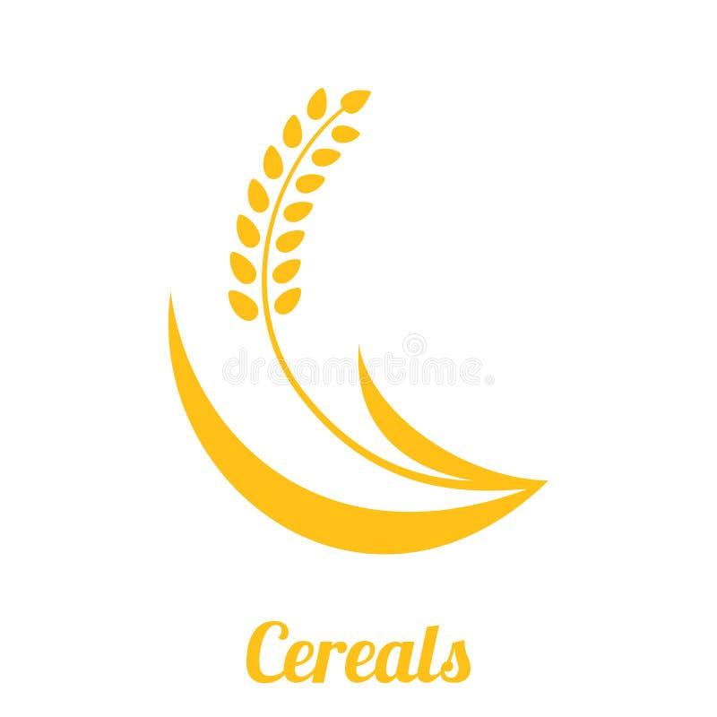 麦子在白色背景隔绝的钉黄色 皇族释放例证