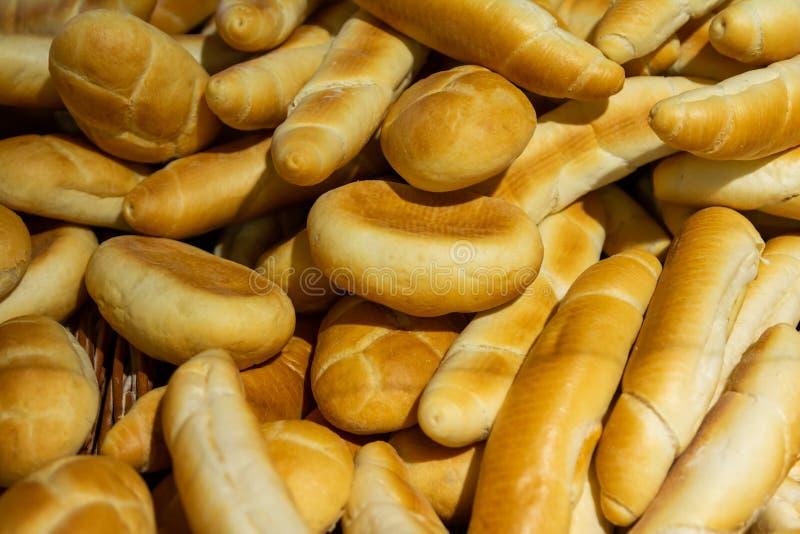 麦子小圆面包背景 特写镜头,选择聚焦 库存照片