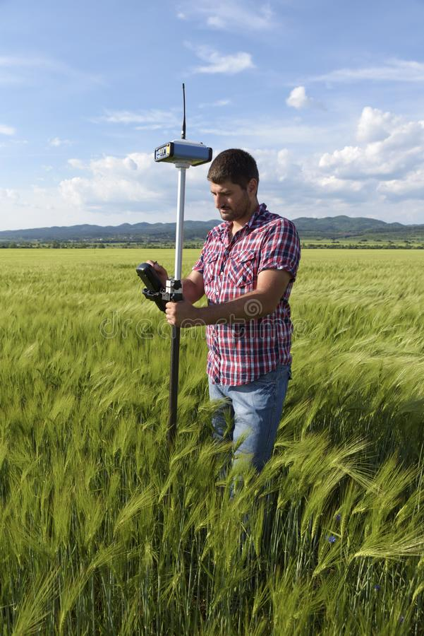 麦子控制器工程师测量学调查 图库摄影