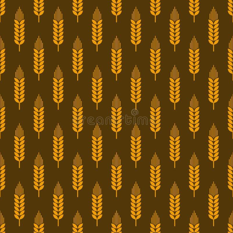 麦子无缝的样式 向量例证