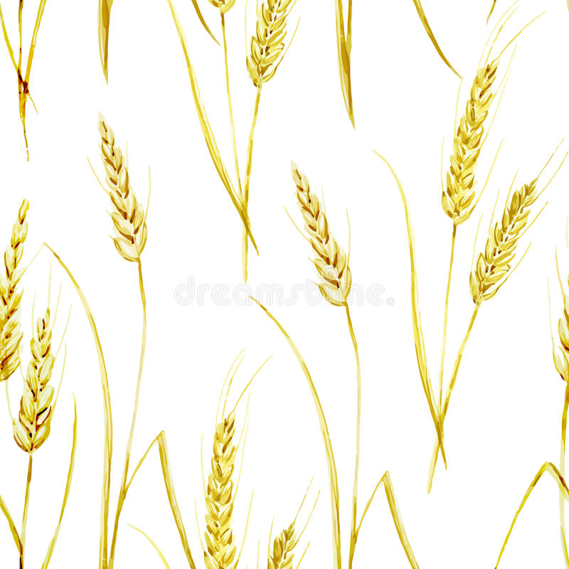 麦子样式 库存例证
