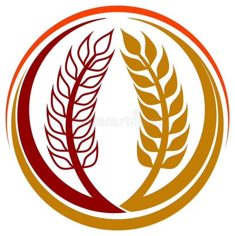 麦子谷物徽标 向量例证