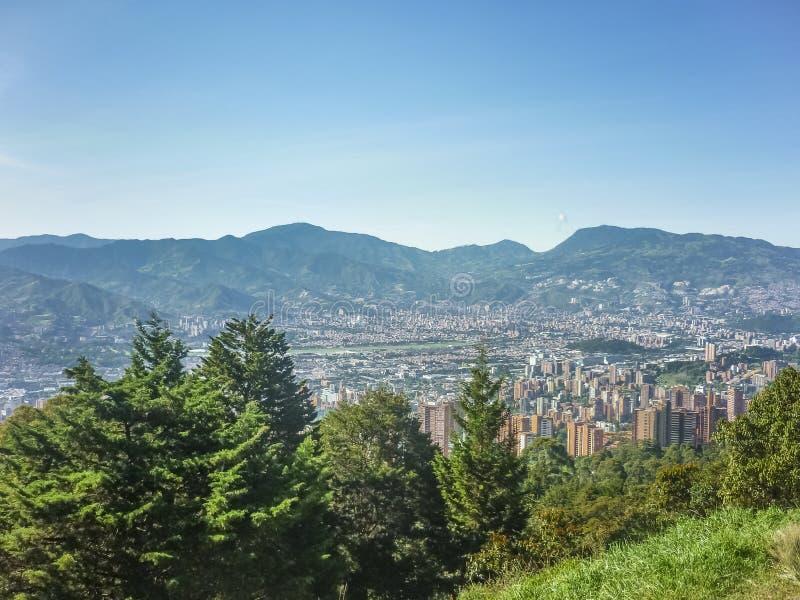 麦德林哥伦比亚鸟瞰图  免版税图库摄影