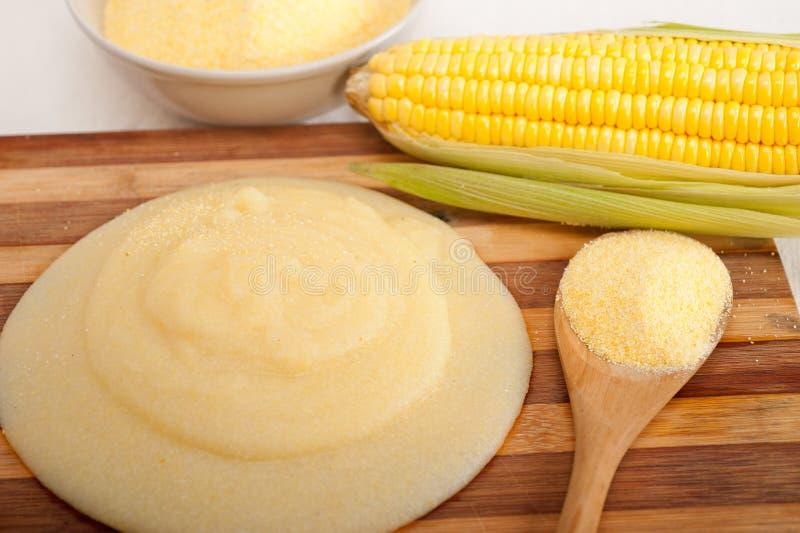 麦片粥玉米mais面粉奶油 库存图片