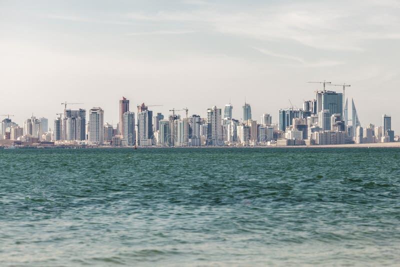 麦纳麦市,巴林地平线  免版税图库摄影
