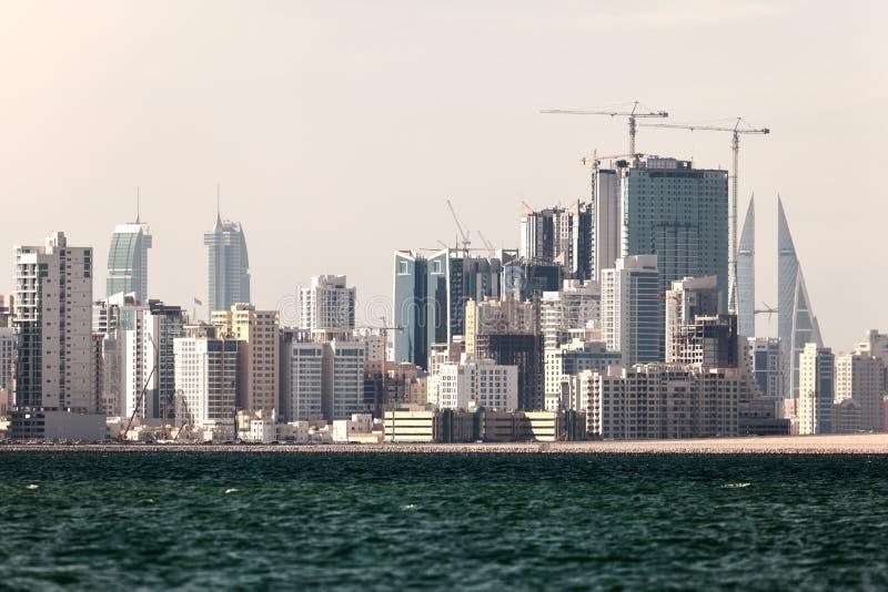 麦纳麦市,巴林地平线  免版税库存图片
