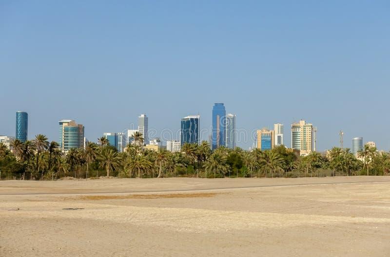 麦纳麦都市风景,巴林的王国 免版税图库摄影
