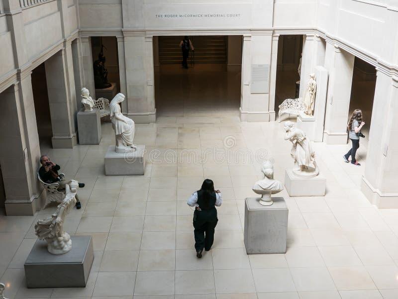 麦考密克纪念法院,芝加哥艺术学院 免版税库存图片