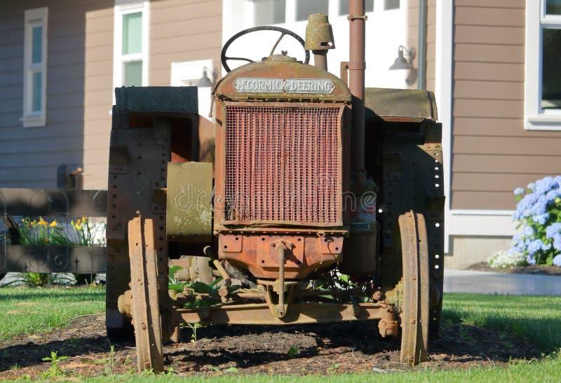 麦考密克Deering 1920年拖拉机 库存照片