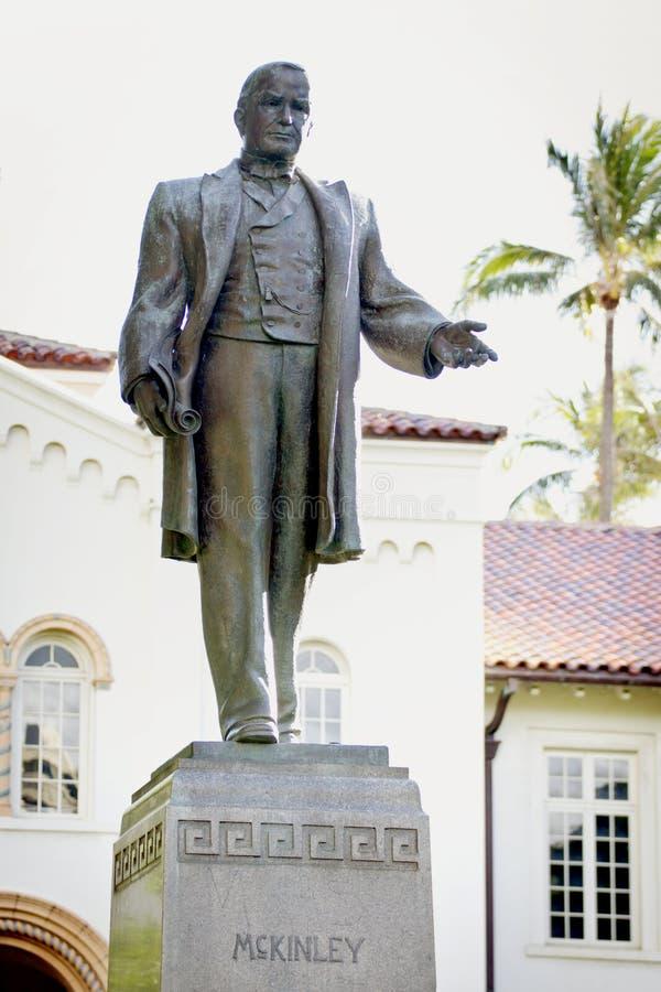 麦金莱总统雕象 免版税库存照片